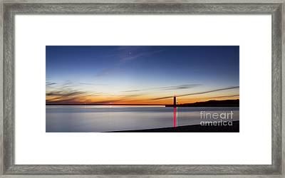 Muskegon Lighthouse In Evening Framed Print by Twenty Two North Photography