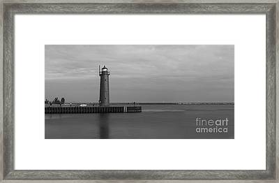 Muskegon South Pierhead Light Framed Print by Twenty Two North Photography