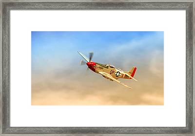Mustang P51 Framed Print by Johan Combrink