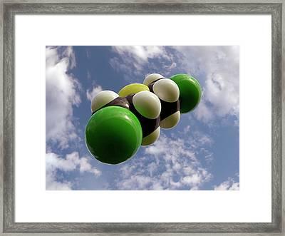 Mustard Gas Molecule Framed Print