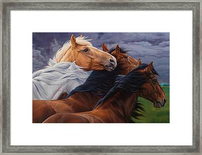 Mutual Support Framed Print by JQ Licensing