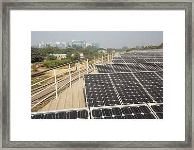 1 Mw Solar Power Station Framed Print