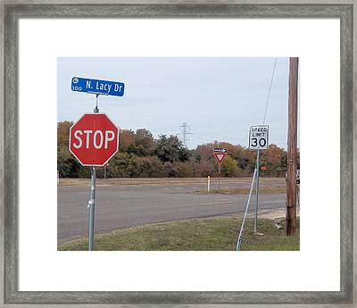 My Corner Signs Framed Print by Rosalie Klidies
