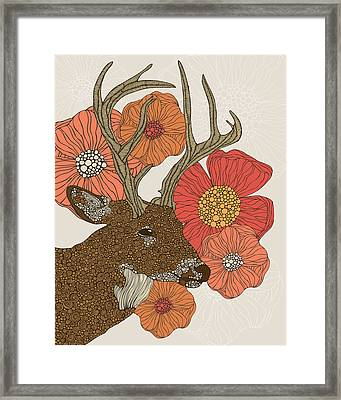 My Dear Deer Framed Print by Valentina Ramos