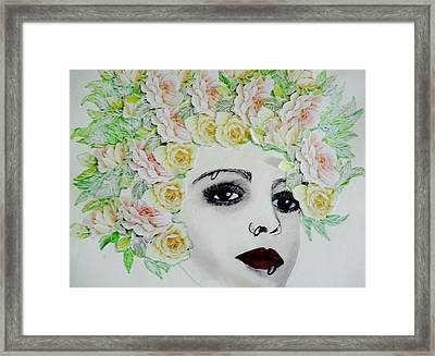 My Flowered Hat Framed Print by Suzanne Thomas