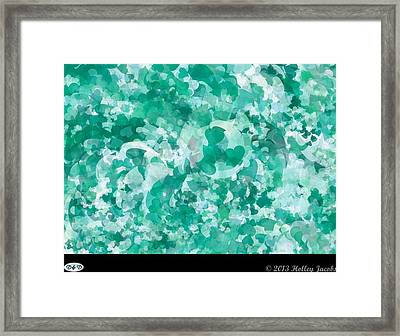 My Love Teal Framed Print by Holley Jacobs