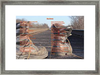 My Shoes Framed Print by Cliff Ball
