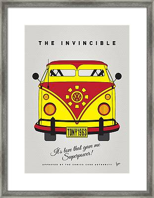 My Superhero-vw-t1-iron Man Framed Print by Chungkong Art