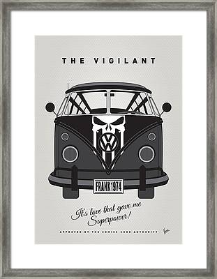 My Superhero-vw-t1-punisher Framed Print by Chungkong Art