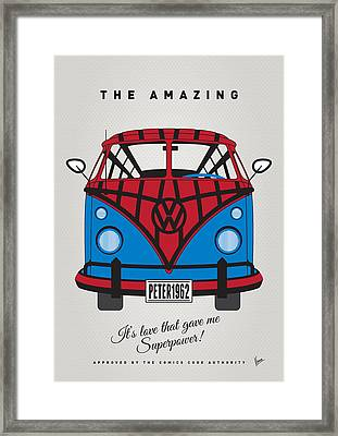My Superhero-vw-t1-spiderman Framed Print by Chungkong Art