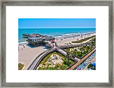 Framed Print featuring the photograph Myrtle Beach South Carolina by Alex Grichenko