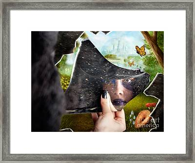 Mysterious Jester Found Wonderland In A Reflection Framed Print by Jorgo Photography - Wall Art Gallery