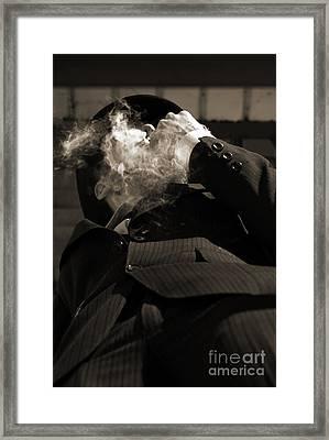 Mysterious Miasma Man Framed Print