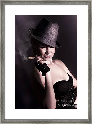Mysterious Underworld Woman Framed Print by Jorgo Photography - Wall Art Gallery