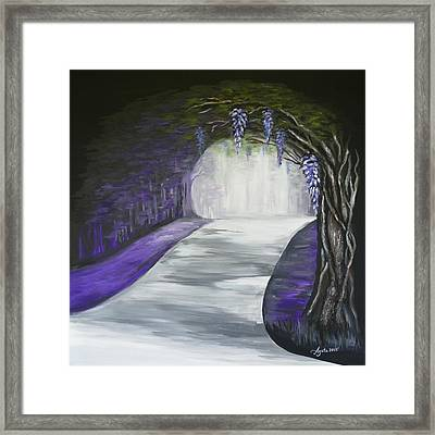 Mysterious Wisteria Framed Print