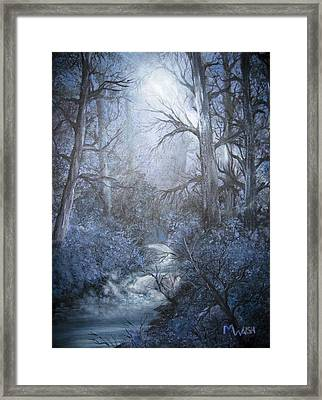 Framed Print featuring the painting Mystery by Megan Walsh