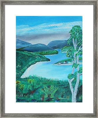 Mystical Island Framed Print by Melvin Turner