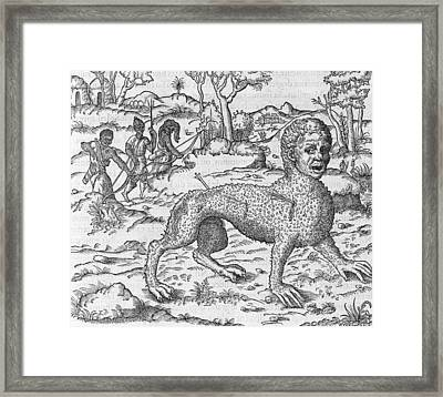 Mythical Creature, 16th Century Framed Print by Science Photo Library