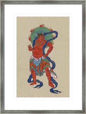 Mythological Buddhist Or Hindu Figure Circa 1878 Framed Print by Aged Pixel