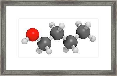 N-butanol Molecule Framed Print