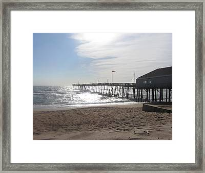 Nags Head Pier 2 Framed Print by Cathy Lindsey