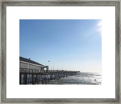 Framed Print featuring the photograph Nags Head Pier by Cathy Lindsey
