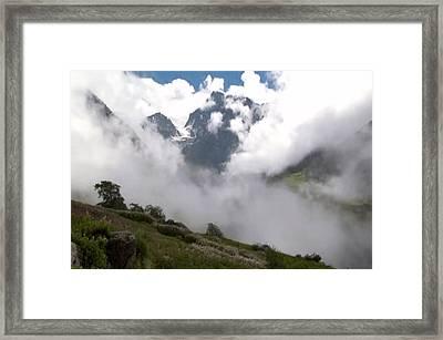 Nanda Devi Peaks On Mount Himalaya North India  Framed Print by Navin Joshi
