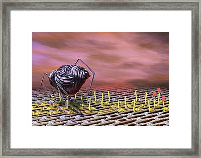 Nanobot Modifying Dna Framed Print