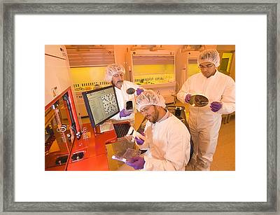 Nanofabrication Facility Framed Print by Science Source
