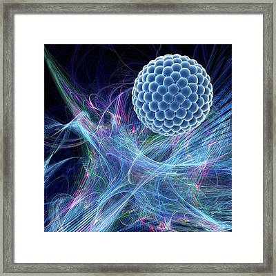 Nanoparticle Framed Print by Laguna Design/science Photo Library