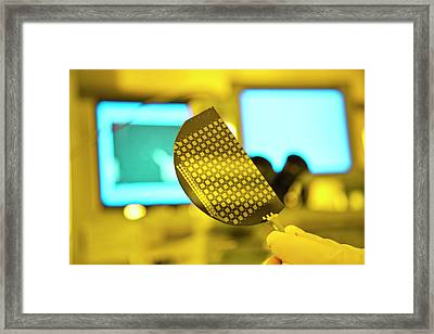 Nanowire Lithography Framed Print by Ibm Research