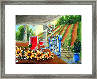 Napa Wine Skeleton Framed Print