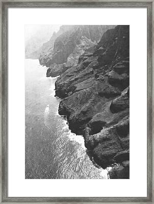 Napali Coast Of Kauai Framed Print by Frank Wilson