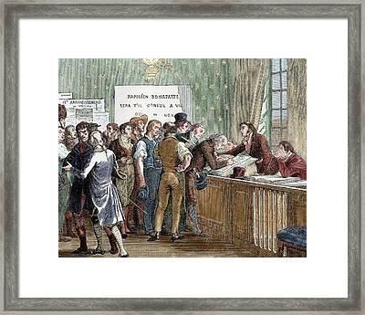 Napoleon Bonaparte (1769-1821 Framed Print by Prisma Archivo