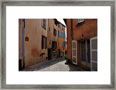Narrow Street In Provence  Framed Print by Dany Lison