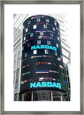 Nasdaq Building  Framed Print