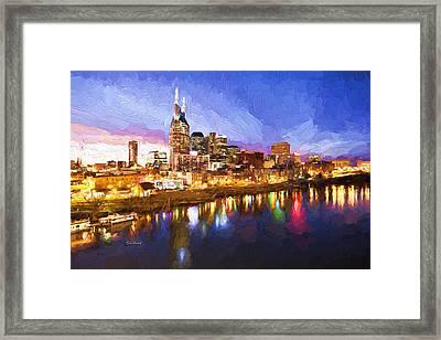 Nashville Colors Framed Print by Garland Johnson