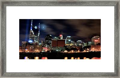 Nashville Panoramic View Framed Print