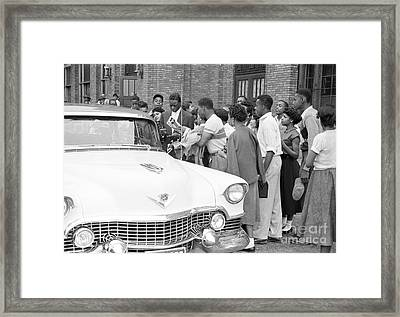 Nat King Cole With Fans 1954 Framed Print