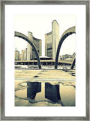 Nathan Phillips Square Framed Print by Valentino Visentini