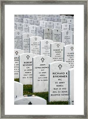 National Cemetery Of The Alleghenies Framed Print by Amy Cicconi