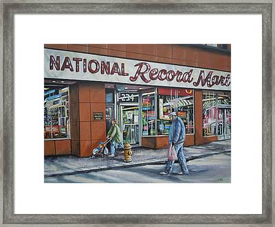 National Record Mart Framed Print by James Guentner