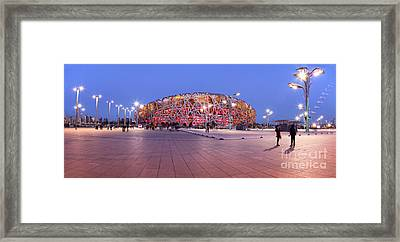 National Stadium Panorama Beijing China Framed Print by Colin and Linda McKie