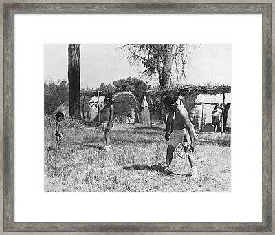 Native American Games Framed Print by Underwood Archives Onia