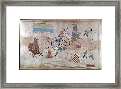 Native American Reservation Framed Print by Granger