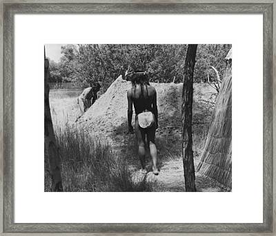 Native American Sweat Lodge Framed Print