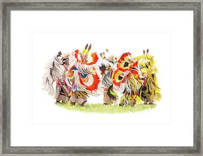 Native Color In Motion Framed Print by Ramona Murdock