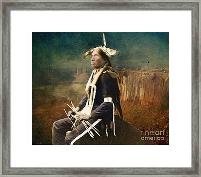 Native Honor Framed Print by Lianne Schneider