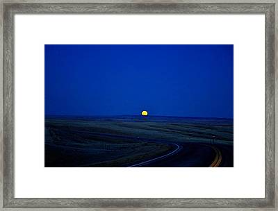 Native Moon Framed Print