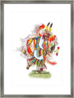 Native Rhythm Framed Print by Ramona Murdock